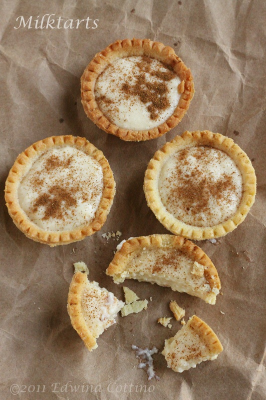 these are a South African tradition - grew up making them! Milk tarts YUM