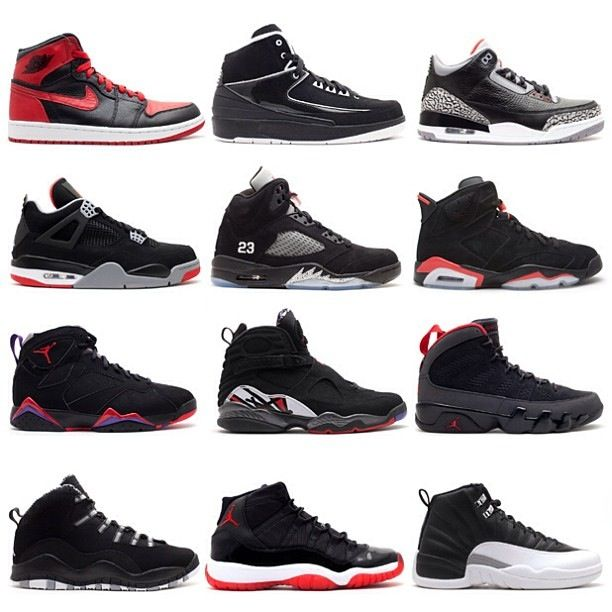 7ad7a3cefb5 1 to 12 Air Jordans.. everyone of these r sic as fuk.. want em all | shoes  | Shoes, Nike shoes, Sneakers