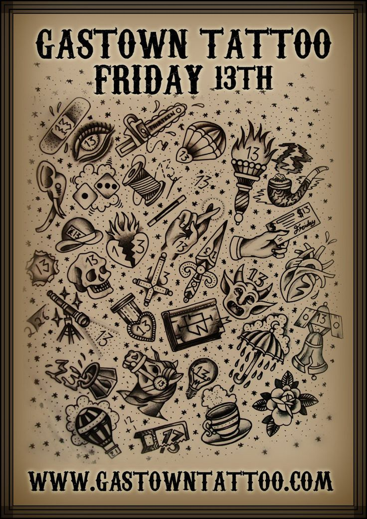 9 best friday the 13th flash images on pinterest tattoo for Friday the 13th tattoo specials near me