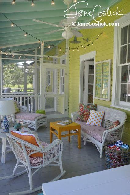 A beachy cottage porch