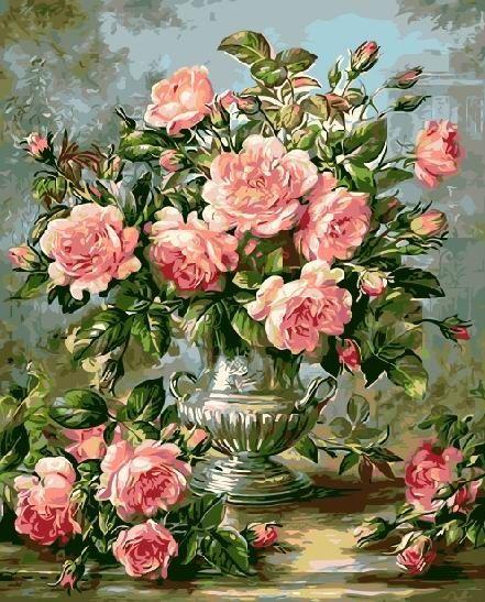 """Malowanie po numerach - iPicasso """"Bukiet róż"""""""