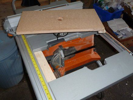 Router Table for a Ridgid table saw