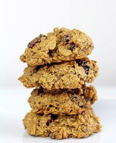 Healthier gluten-free, dairy-free Oatmeal Raisin Cookies