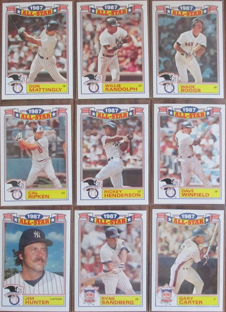 1987 Topps Glossy All Stars All star, Sports cards