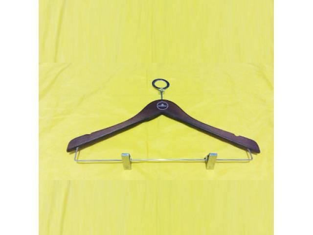 Jual dan Produksi Hanger Kayu Palang Jepitan Kepala Ring Anti Theft