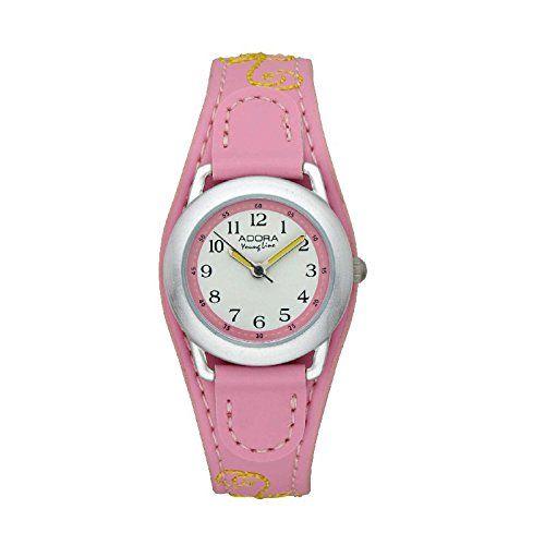 Besondere Tapeten Bestellen : Adora Youngline Kinderuhr 1-11415X-001, Armbandfarbe:Rosa – http://uhr
