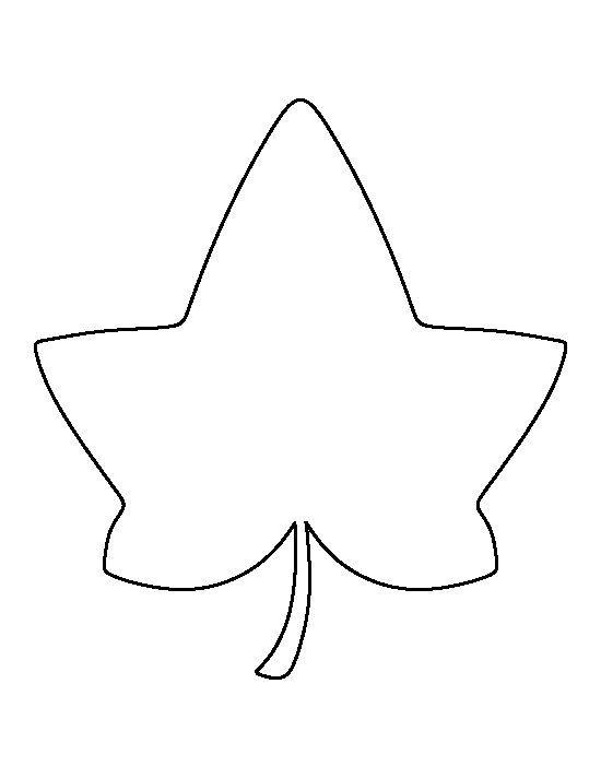 Best Leaf Stencils Images On   Paper Flowers Leaf