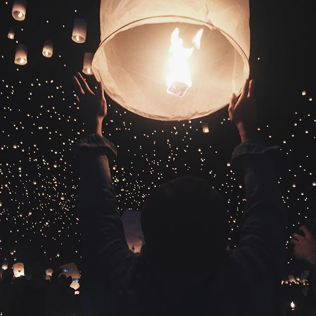 floating lanterns are DEFINITELY on my bucket list. and this is a super great pic too.