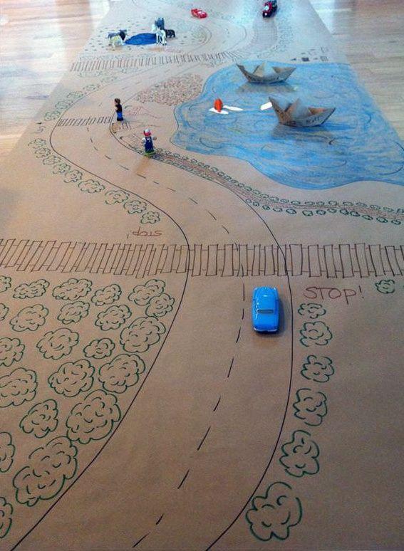 4 Ideas Creativas para Habitaciones de Juegos con Papel Kraft - DecoPeques