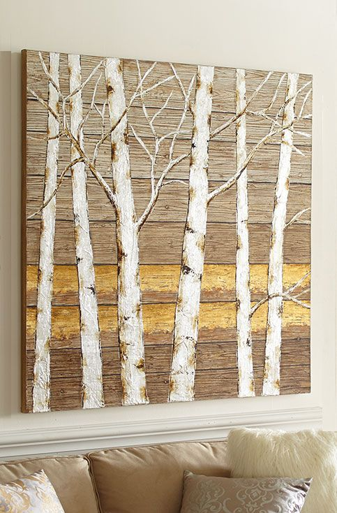 birch tree wall art from pier 1 imports wallpaper and murals pinterest repurposed wood. Black Bedroom Furniture Sets. Home Design Ideas