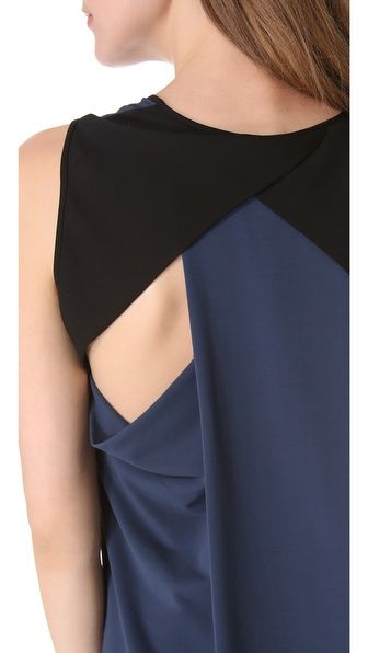 Cut25 by Yigal Azrouel Draped Racer Back Dress