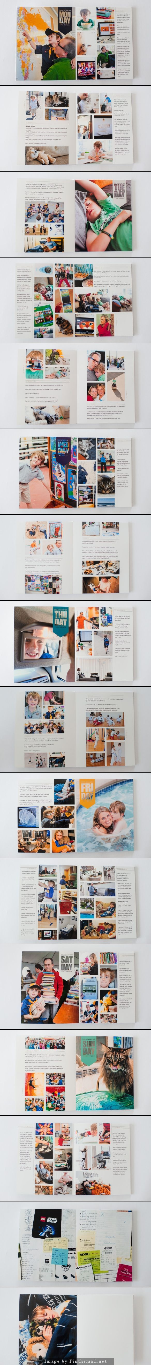 Week In the Life Photo Book from surf and sea design - love the crisp and clean style!