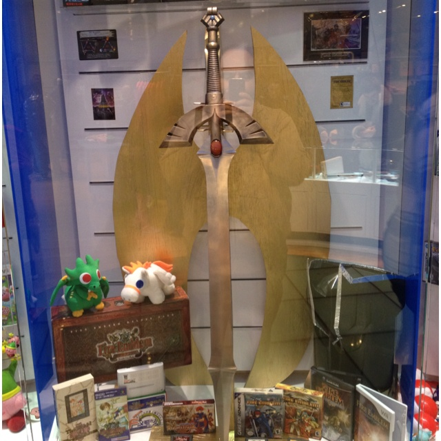 Awesome Fire Emblem shrine at the Nintendo Store in NYC.