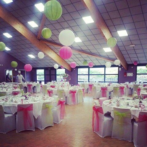 D coration de salle by ain mariage lanterne vert anis for Centre de table vert anis