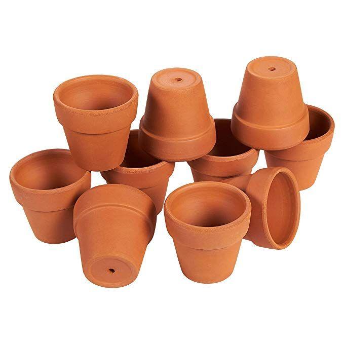 Terra Cotta Pots 10 Count Terracotta Pots 2 6 Inch Mini Flower Pots With Drainage Holes Clay Flower Pots Small Terracotta Pots Clay Flower Pots Flower Pots