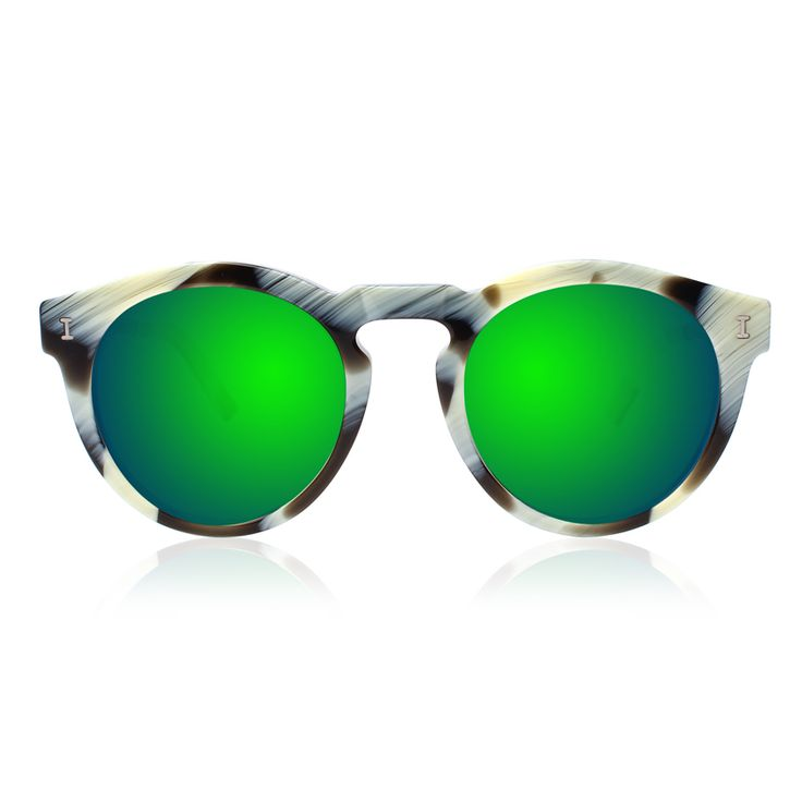 Toohey Horn with Green Mirrored Lenses | illesteva