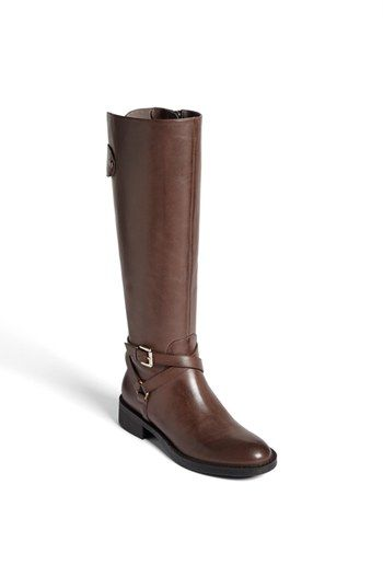 """Enzo Angiolini """"Saevon"""" leather boots (taupe gray, aka dark brown- $130) // I bought these already but haven't worn them..."""