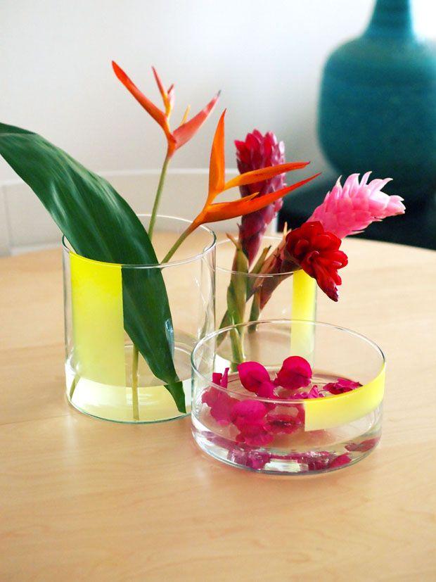 Happy Mundane's Jungalicious DIY Centerpiece: Weights Loss Program, Happy Mundan, Diy'S, Paintings Vase, Weights Loss Tips, Weights Loss Secret, Justina Blakeney, Tropical Flowers, Diy Centerpieces