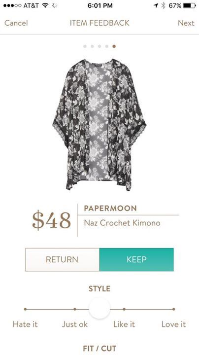 Papermoon Kimono - definitely starting to like the versatility of kimonos right now. Patterned or plain are fun.