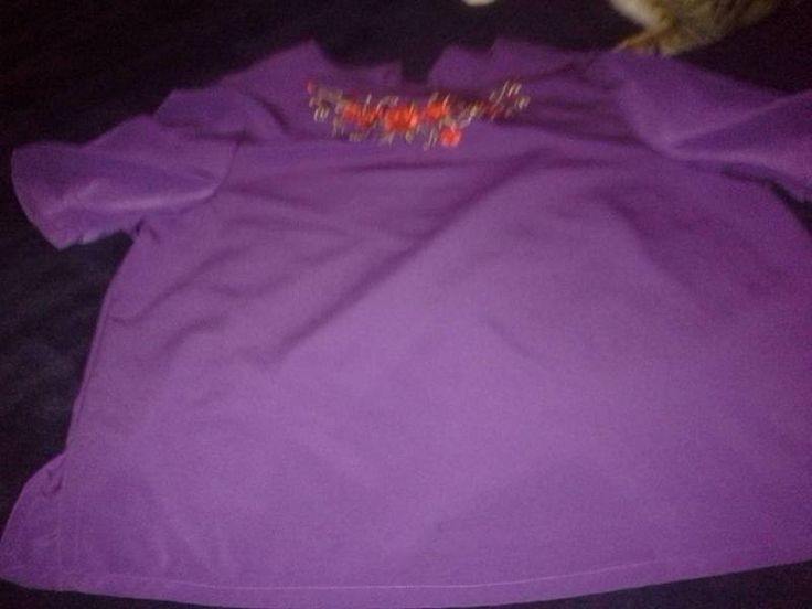 PURPLE AND RED BLOUSE
