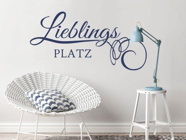 Wandtattoo Wort Lieblingsplatz Wandtattoos für Wohnzimmer