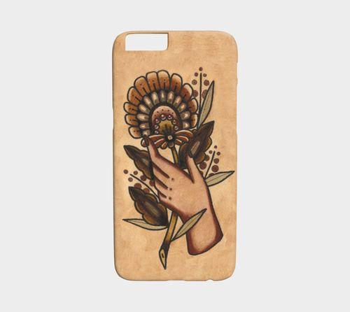 Orange Flower Device Case by Alex Zgud by Studio Phi Tattoos