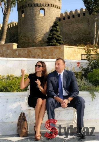 Mehriban Alieva and Ilham Aliev in Baku