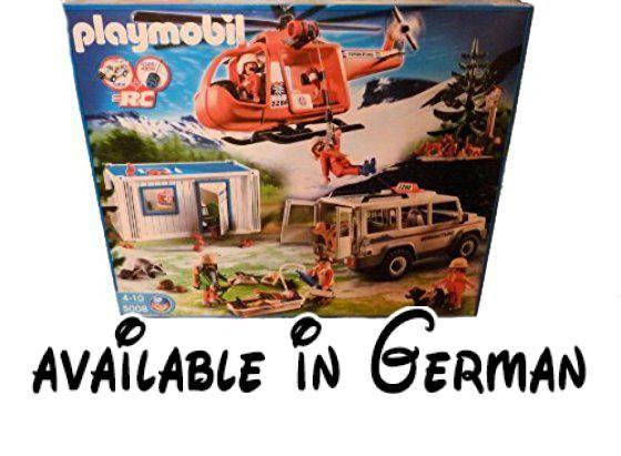 PLAYMOBIL® 5008 Großeinsatz der Bergrettung. Playmobil 5008 Rettung Hubschrauber. Großeinsatz Bergrettung #Toy #TOYS_AND_GAMES