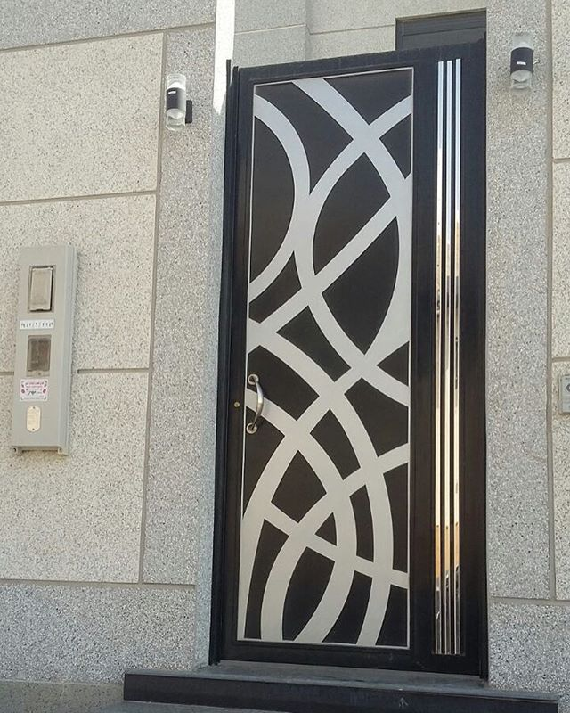 ابواب ابواب ليزر ابواب حديد ابواب خشب بارتيشنات تصاميم للتواصل محمود صبري 0533360696 أبواب حدي Doors Interior Modern Door Gate Design Iron Doors