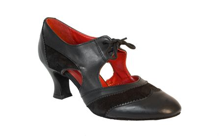 "Ballroom Dance Shoes Lorna Lee by Ray Rose Available in Black Leather, 2"" Cuban Heel @ www.dance-america.com This popular style is the height of fashion.  Arch support identical to that of a Latin sandal  with a soft latex sock lining, making the shoe ideal for teaching for long periods.  The perfectly balanced two inch heel has been specifically designed for this style."