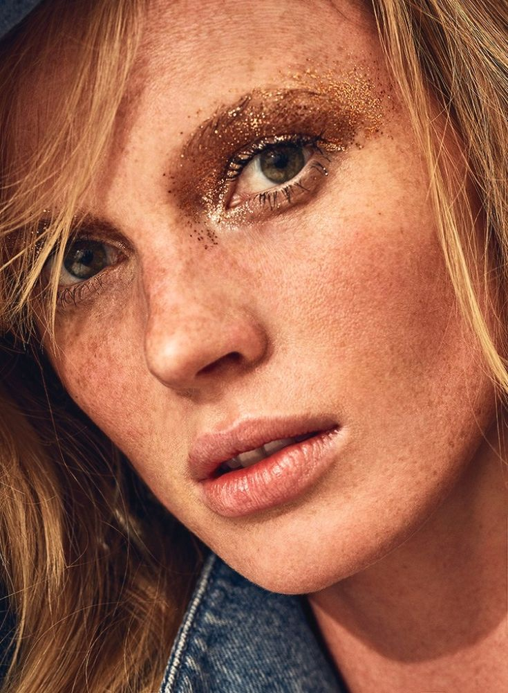 Anne Vyalitsyna shows off her freckles for Marie Claire Italia Magazine August 2016