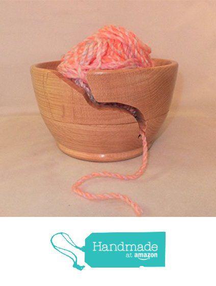 Wood turned yarn bowl made from oak in stock ready for dispatch from Nigel Peters Woodturnings https://www.amazon.co.uk/dp/B01MU66C23/ref=hnd_sw_r_pi_awdo_J35zybGTZW1Y8 #handmadeatamazon
