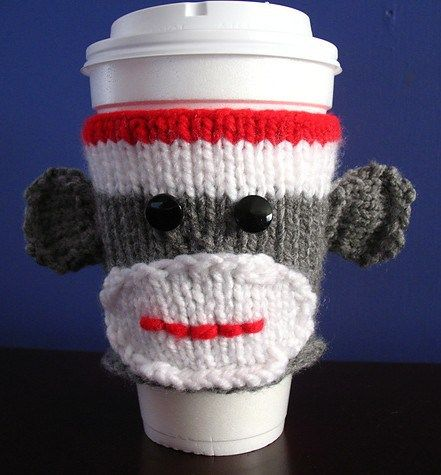 Knitting Pattern For Sock Monkey Sweater : 17 Best images about KNITTING: CUP COZY on Pinterest Free pattern, Knit pat...