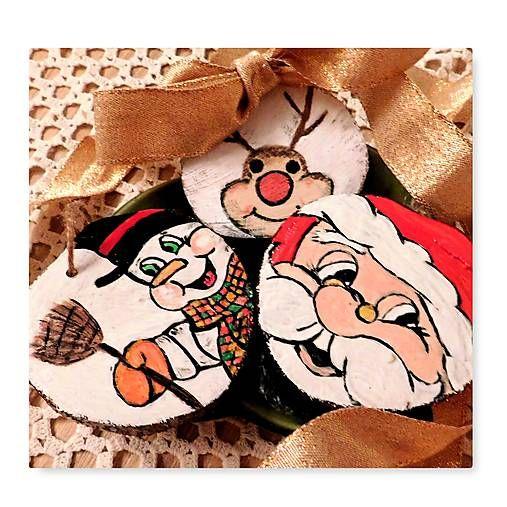 RebekaP / Sada vianočných ozdôb z dreva