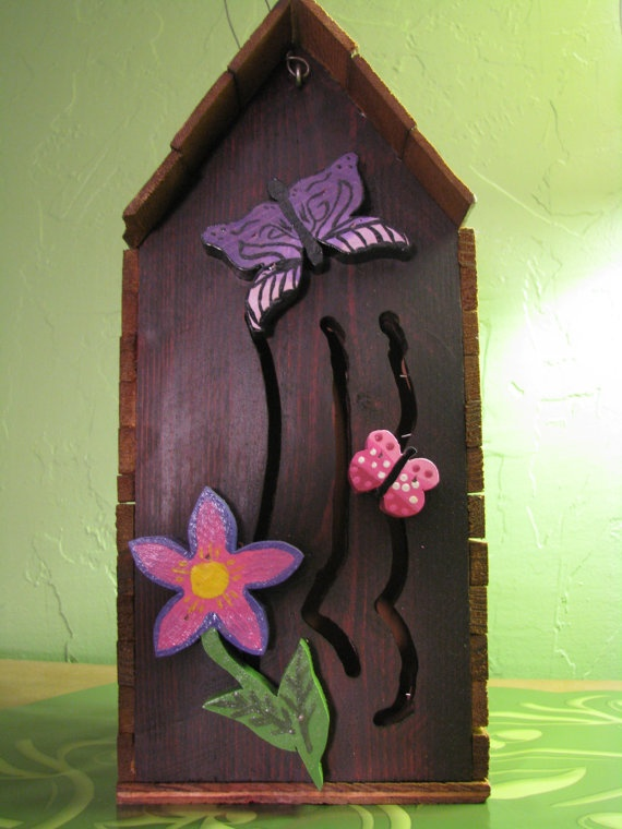 Handmade Wooden Butterfly House