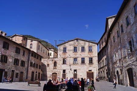 Bosone square, Gubbio, Umbria, Italy