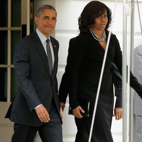 Michelle-Obama-Black-Wrap-Dress-May-2016.jpg (550×550)