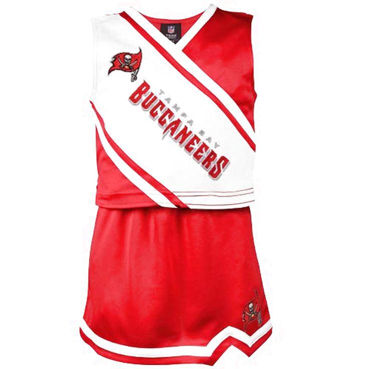 Tampa Bay Buccaneers Preschool Girls 2-Piece Cheerleader Set - Red - $28.79