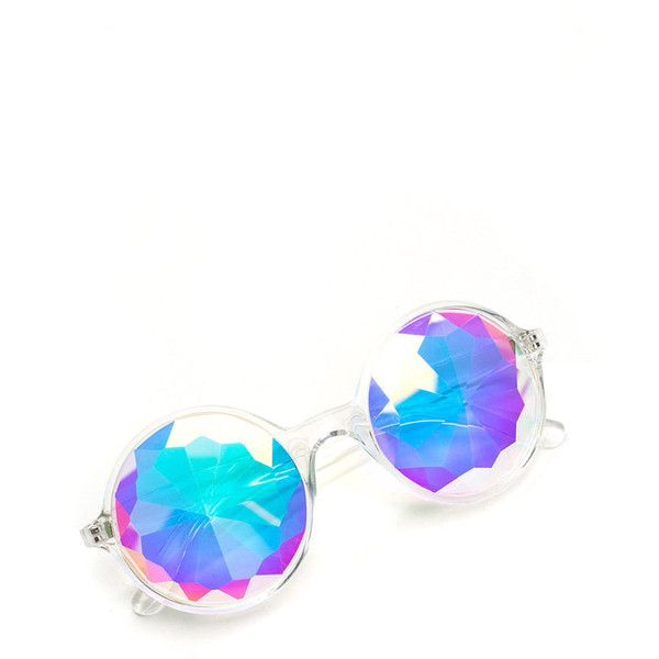 MULTI Prism Break Mirrored Novelty Sunglasses (£12) ❤ liked on Polyvore featuring accessories, eyewear, sunglasses, multi, mirrored sunglasses, fake sunglasses, mirrored glasses, fake round glasses and round sunglasses