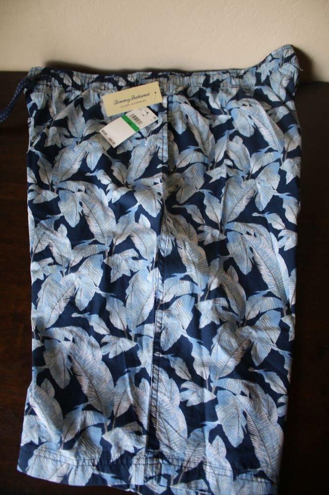 Tommy Bahama Men s Sleep Lounge Pajama Shorts Blue Navy Hawaiian - (M) (L)  (XL)  f8a0792a8
