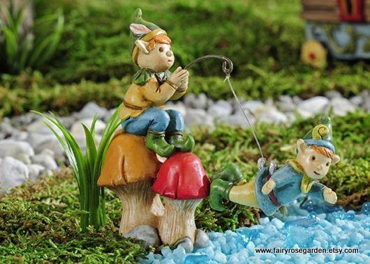 Fairy Garden   Fairy House   Mini Pixie   Fishing   Miniature Pixies   Miniature  Garden