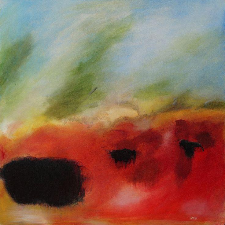 "Prairie Field 24""x24"" acrylic on canvas  Sold"