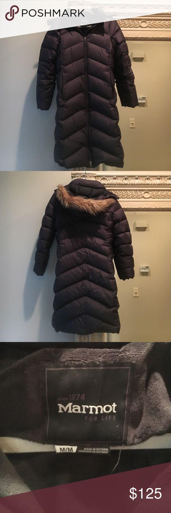 Marmot ladies parka 700 Fill Down coat. Charcoal color. Worn one season. Marmot Jackets & Coats Puffers
