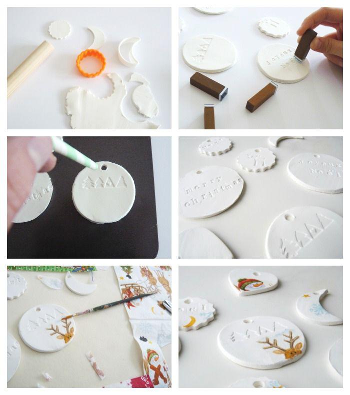 Décoration noel collage