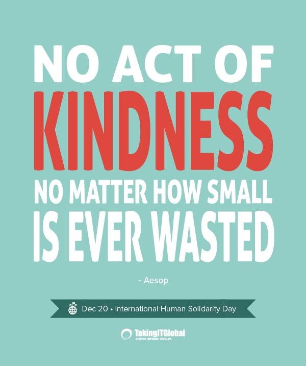 International Human Solidarity Day Inspirational Quotes