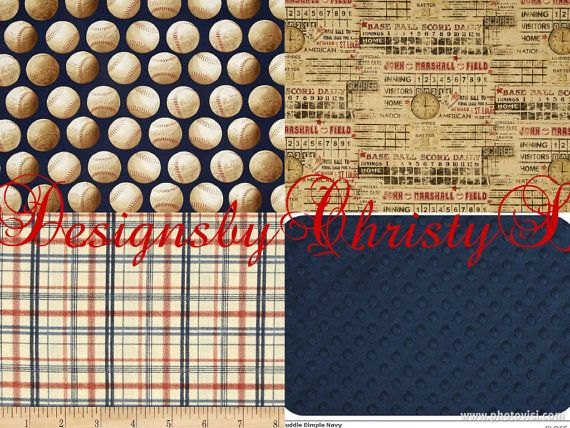 Baby Boy Crib Bedding Who S On First Vintage Navy Baseball Ensemble With Patchwork Blanket And