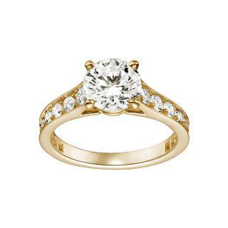 Anillo de compromiso de Cartier. Anillos de pedida de oro amarillo. Deseos de Boda