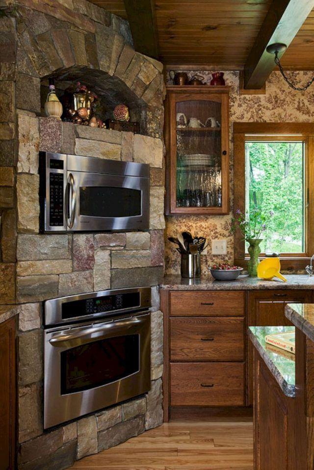 20 Brilliant Rustic Farmhouse Kitchen Island Ideas Page 15 Of 25 In 2020 Rustic Kitchen Island Kitchen Remodel Small Rustic Kitchen Design