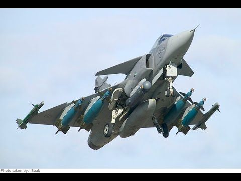 Swedish Air Force MOST FEARED military fighter aircraft - YouTube