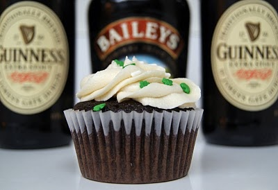 Guinness cupcakes with Bailey's Frosting!
